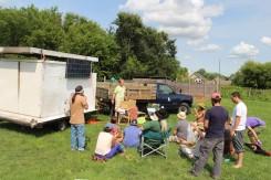 Home biogas demonstration.