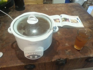 Pasteurizing in a crock pot.