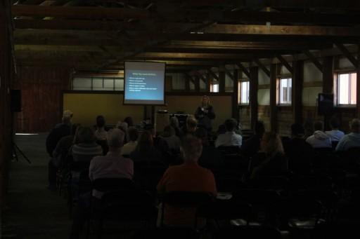 USDA's Kathe Sodar presenting on pasture management.