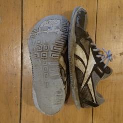 "DIY ""barefoot"" running shoes."