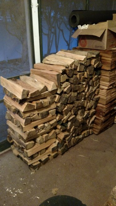 Chopped wood.