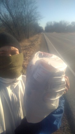 """Garbage cleaned up while """"plogging."""""""