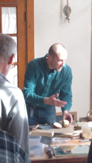 Mr. Fleming describing proper technique.