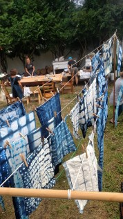 Some of the fabric drying. (photo by S. Johnson)