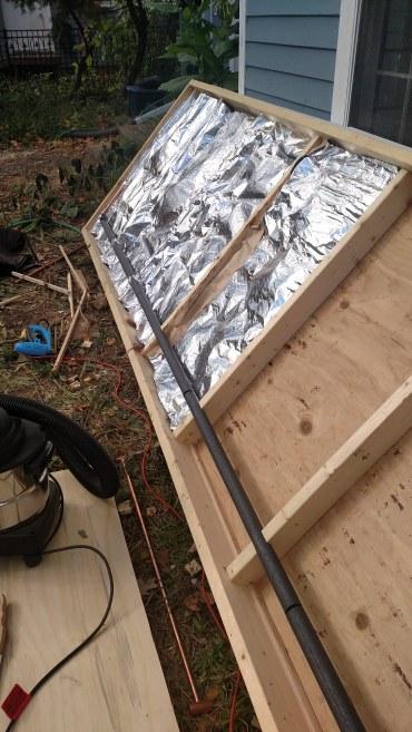 Insulation batts installed.