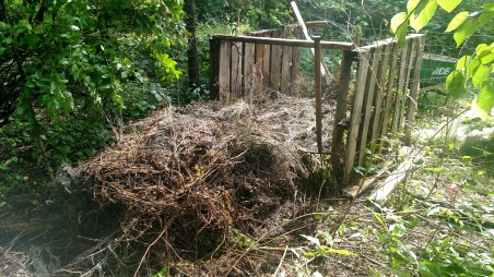 Compost breaking down quickly.